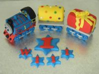 Thomas the Tank Engine theme Cake Topper with Two Carriages